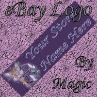 Purple Fairy With Pentagram Customized eBay Store Logo 310 X 90 #L085
