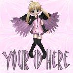 Pink Anime Fairy My Space, eBay My World, Web Icon #M008