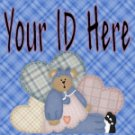 Blue Country Teddy Bear My Space, eBay My World, Web Icon #M009