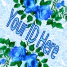 Blue Roses My Space, eBay My World, Web Icon #M011