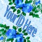 Blue Roses My Space, eBay My World, Web Icon #M011