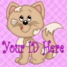 Cute Kitty Cat on Pink My Space, eBay My World, Web Icon #M012