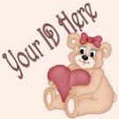 Teddy Bear with Heart My Space, eBay My World, Web Icon #M014