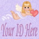 Cupid Angel with Heart My Space, eBay My World, Web Icon #M015