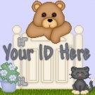 Teddy Bear Behind Gate My Space, eBay My World, Web Icon #M018