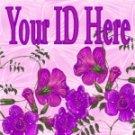 Purple Flowers My Space, eBay My World, Web Icon #M020