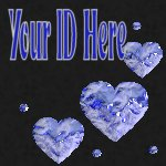 Blue Hearts My Space, eBay My World, Web Icon #M024