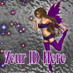 Purple Star Fairy My Space, eBay My World, Web Icon #M025
