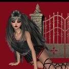 Gothic Girl Scene on Red Ebay, OLA, Overstock Ad Listing Template Html Web Page #120