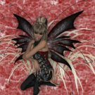 Black Fairy on Red eCrator Store Logo Set Web Set OOAK #E03