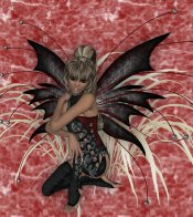 Black Fairy on Red eCrator Store Logo Set Web Set OOAK #E03