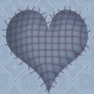 Blue Country Heart eCrator Store Logo Set Web Set OOAK #E06