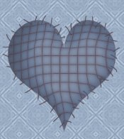 Blue Country Heart eCrator Store Logo Set Web Set OOAK #E06