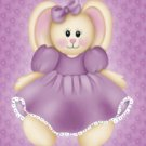 Purple Stuffed Bunny Rabbit eCrator Store Logo Set Web Set OOAK #E07