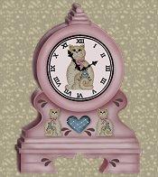 Kitty Cat Country Clock eCrator Store Logo Set Web Set OOAK #E08