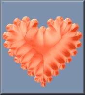 Orange Heart on Blue eCrator Store Logo Set Web Set OOAK #E13