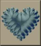 Blue Heart on Beige eCrator Store Logo Set Web Set OOAK #E15