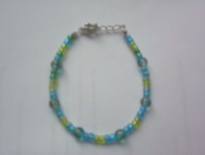Turquoise and Green Bracelet