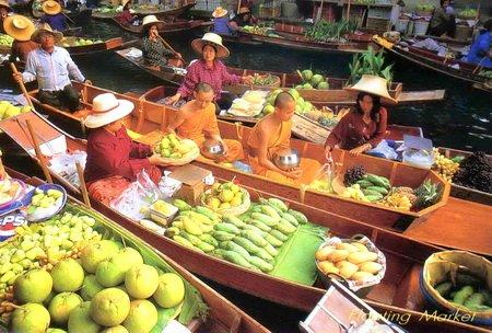 Floating Market Postcard
