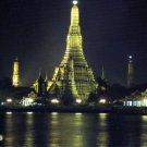 Choaphraya River side Wat Arun Thailand Postcard