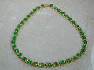 36k Fine  Burmese Jade and  cz
