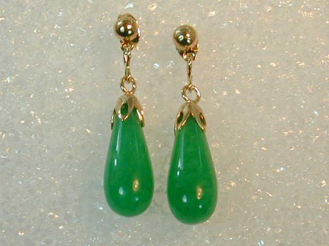 GREAT DEAL !!!! Fine Burmese Jade Teardrop