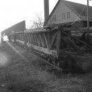 "OLD MINING CARTS ON TRACK**QUINCY MINE**HANCOCK MICHIGAN**B&W**8""X10"""