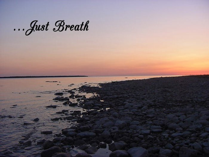 "JUST BREATH**INSPIRATIONAL**8""X10""**Framed Art"