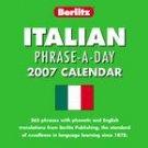 ITALIAN PHRASE A DAY 2007 DESK CALENDAR-FREE SHIPPING!
