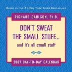 DON'T SWEAT THE SMALL STUFF 2007 DESK CALENDAR-FREE SHIPPING!