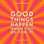 GOOD THINGS HAPPEN 2007 MINI WALL CALENDAR-FREE SHIPPING!