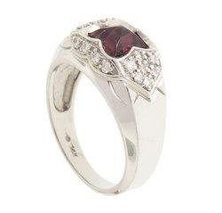 Pink Tourmaline Diamond 14K White Gold Ring