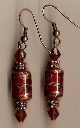 Red Lampwork Earrings