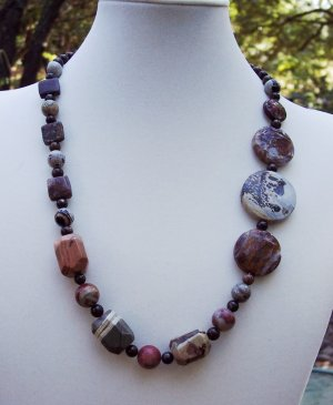 Asymmetrical Jasper Necklace