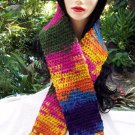 Handmade Crochet Scarf Varigated Colors