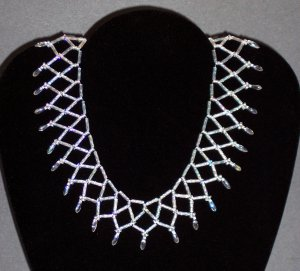 Crystal Collar Necklace, Handmade