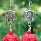 Red Cinnabar Earrings