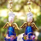 Christmas Angel Earrings Handmade