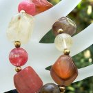 Volcanic Cherry Quartz Stetch Bracelet