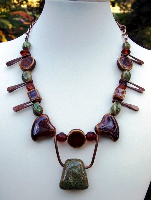 Copper Hearts Handmade Necklace