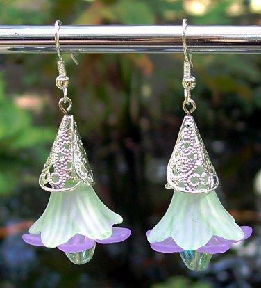 Acrylic Flower Earrings Handmade
