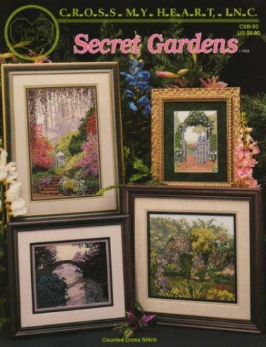 Secret Gardens Cross Stitch Pattern Book