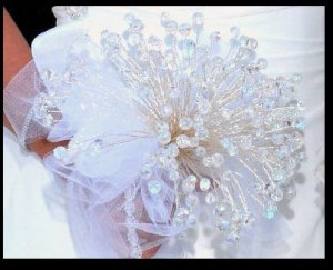 150 Swarovski Crystal Bouquet and Boutonniere