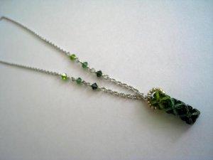 Green Swarovski Gradation Necklace