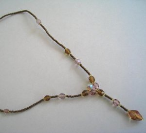 Simple Czech Beads Necklace