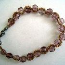 Czech Beads Purple x Brown Bracelet
