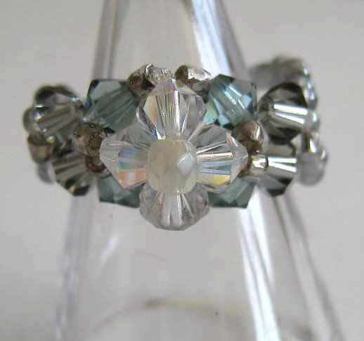 Swarovski Flower Ring