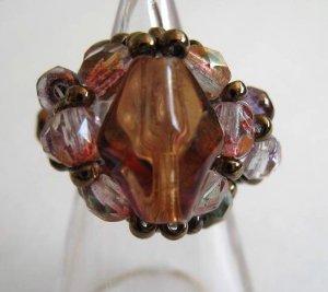 Gorgeous Glass beads X Czech Beads Ring