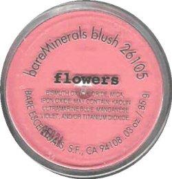BARE ESCENTUALS BLUSH FLOWERS XL .03OZ. SIZE NEW!!