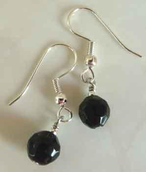 Jet Black Crystal SS Earrings brbb133